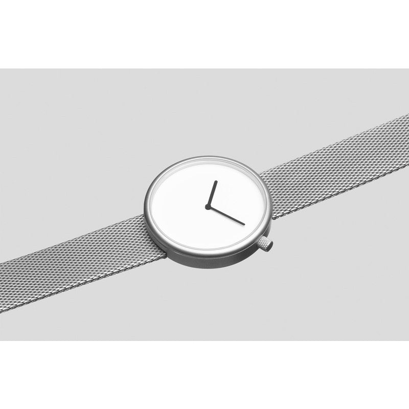 bulbul Ore 06 Men's Watch | Matte Steel on Milanese Mesh