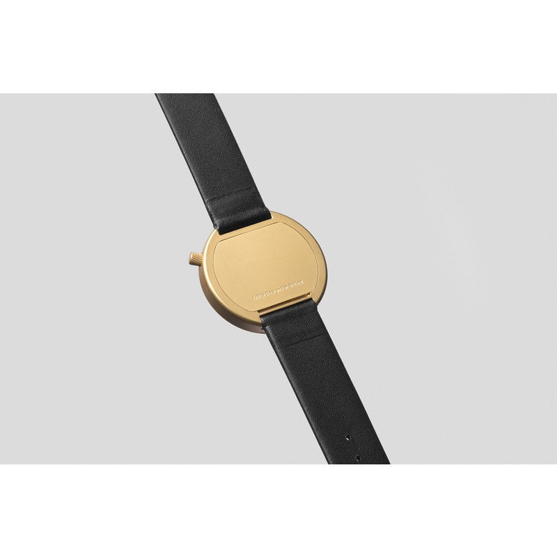 bulbul Ore 07 Men's Watch | Matte Golden Steel on Black Italian Leather