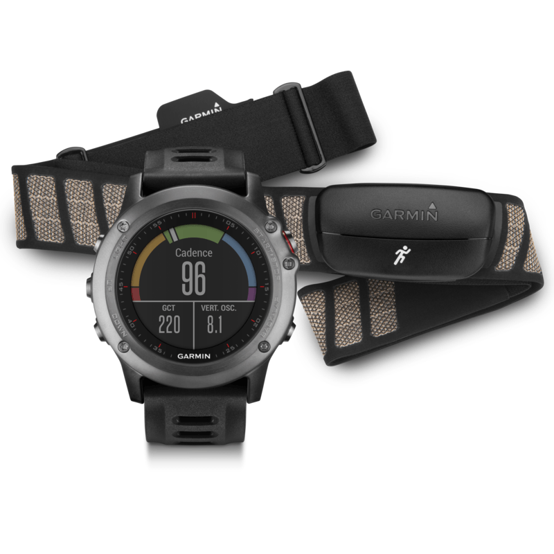 Garmin Fenix 3 Watch Performer Bundle with HRM-Run | Gray/Black