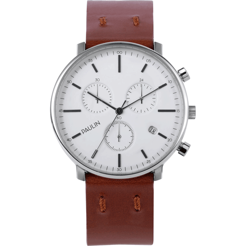 Paulin C201 Chronograph E Watch | Tan C201-E-PL-SL-TAN-BRI 40mm
