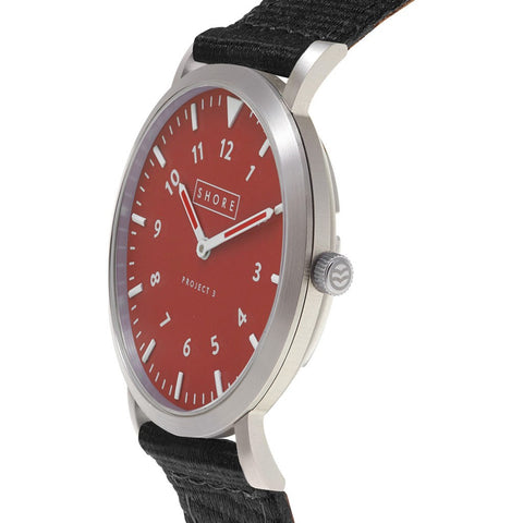 Shore Projects Camber Watch with Classic Strap | Silver / Camber / Black S036S