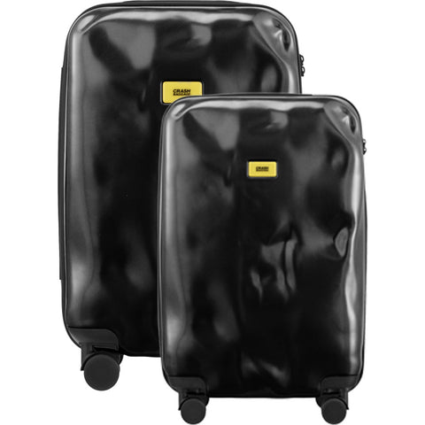 Crash Baggage Set of 3 Pioneer Trolley Suitcases | Black CB100-01