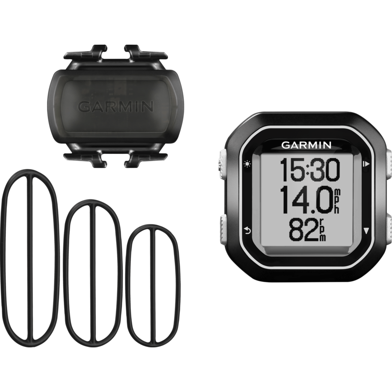 Garmin Edge 25 GPS Bike Computer Cadence Bundle | Black