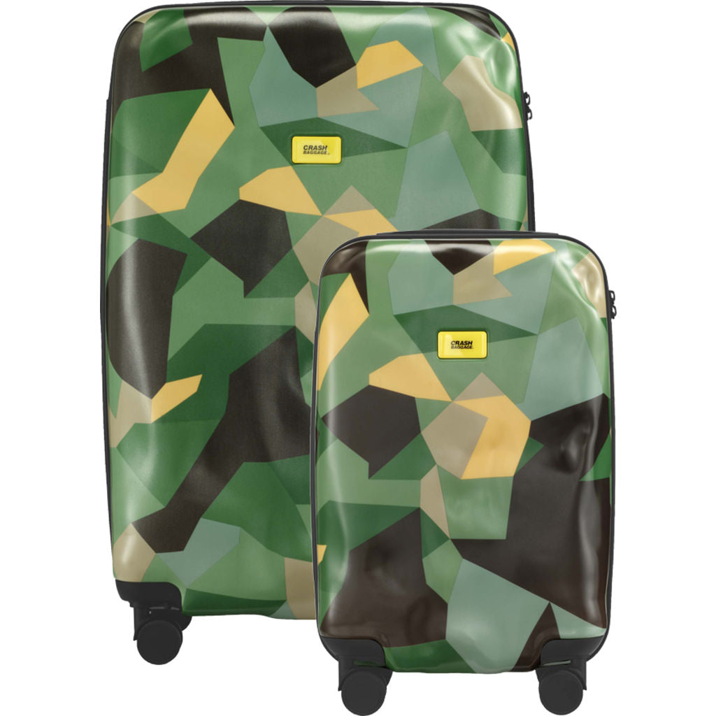 Crash Baggage Set of 3 Pioneer Trolley Suitcases | Limited Edition Camo CB131