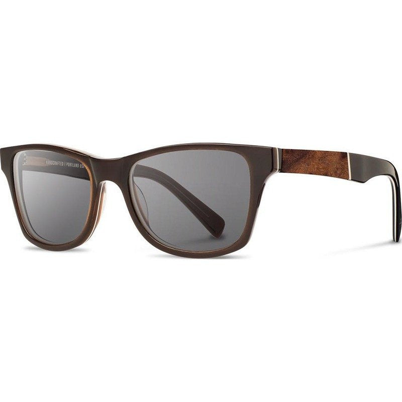 Shwood Canby Acetate Sunglasses | Espresso & Elm Burl / Grey Polarized
