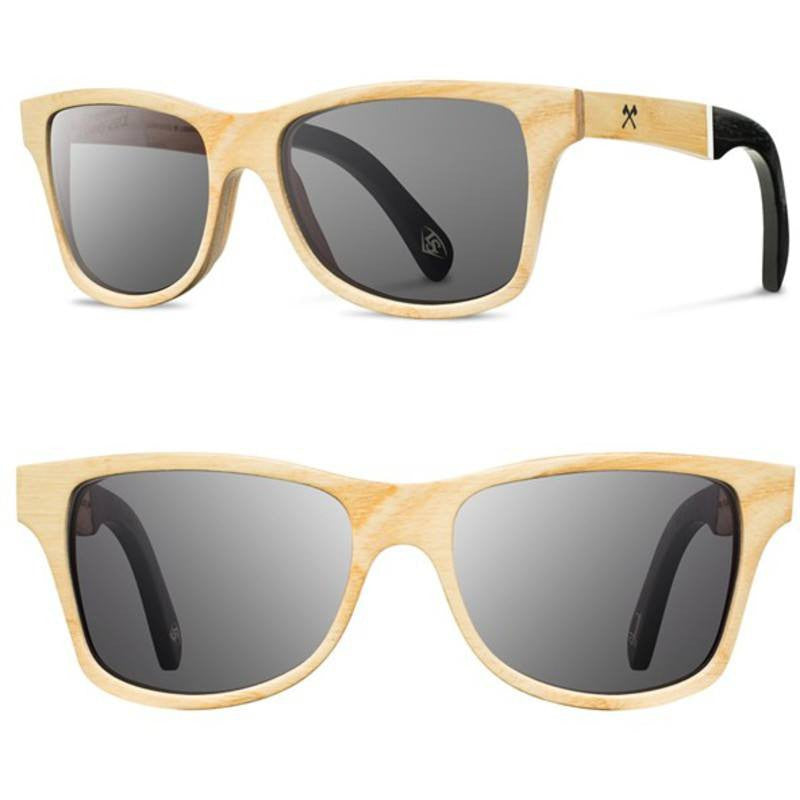 Shwood Canby Louisville Slugger Select Sunglasses | Ash / Grey Polarized