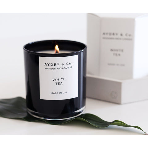 AYDRY & Co. Wooden Wick Candle | White Tea 8 oz