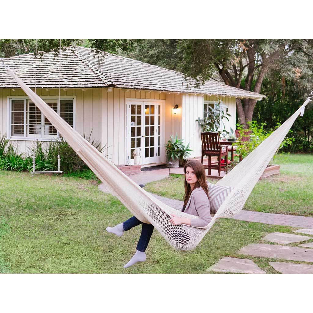 dfohome rope small xx castaway hammock with stand cotton
