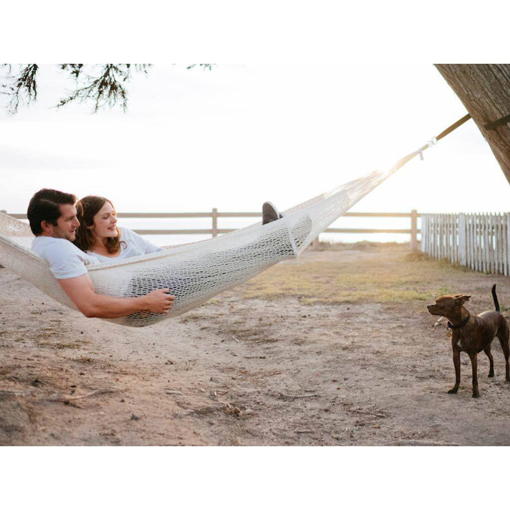 Yellow Leaf Cotton Rope Hammock | Catalina YL-CR-CA