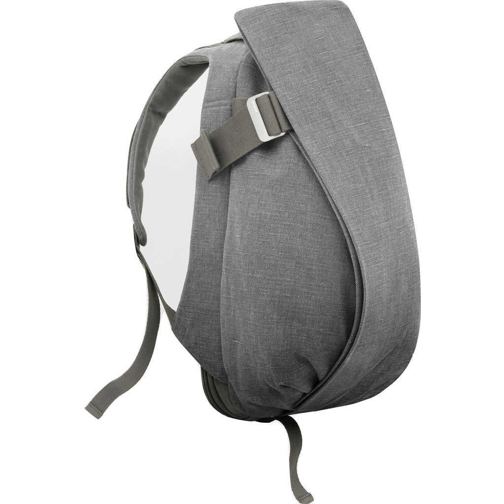 Cote et Ciel Isar Large Raw Canvas Backpack | Icelandic Ash