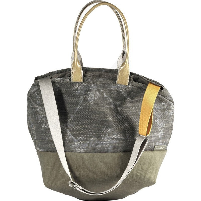 Cote&Ciel Kalix Large Granite Canvas Tote Bag | Galena/Olive Green 28325