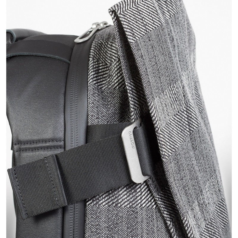 Cote et Ciel Isar Herringbone Weave Laptop Backpack | Concrete Herringbone 28336