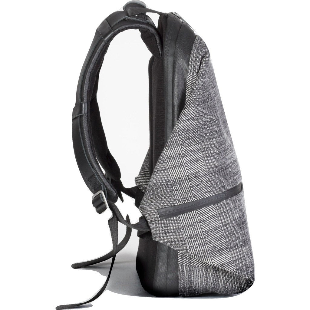 Cote et Ciel Meuse Herringbone Weave Backpack | Concrete