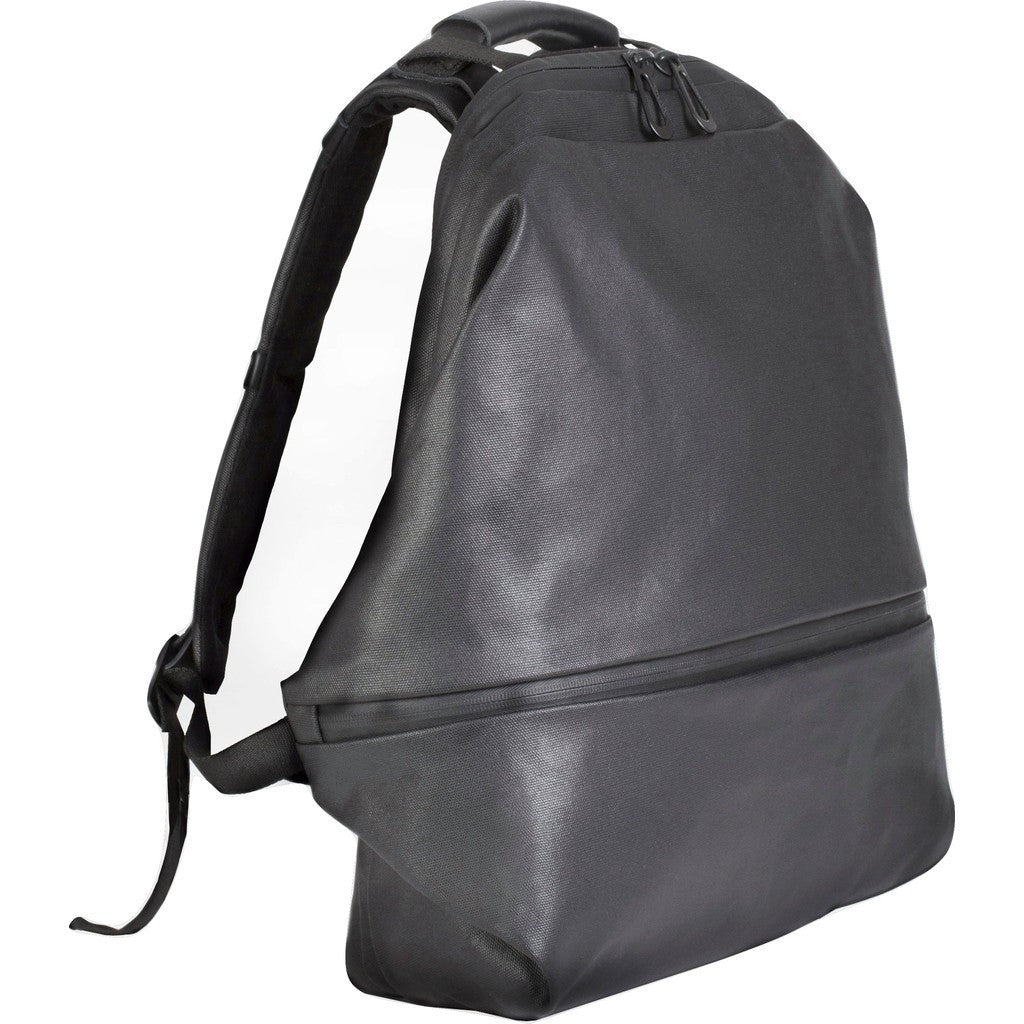 Cote et Ciel Meuse Coated Canvas Backpack | Black