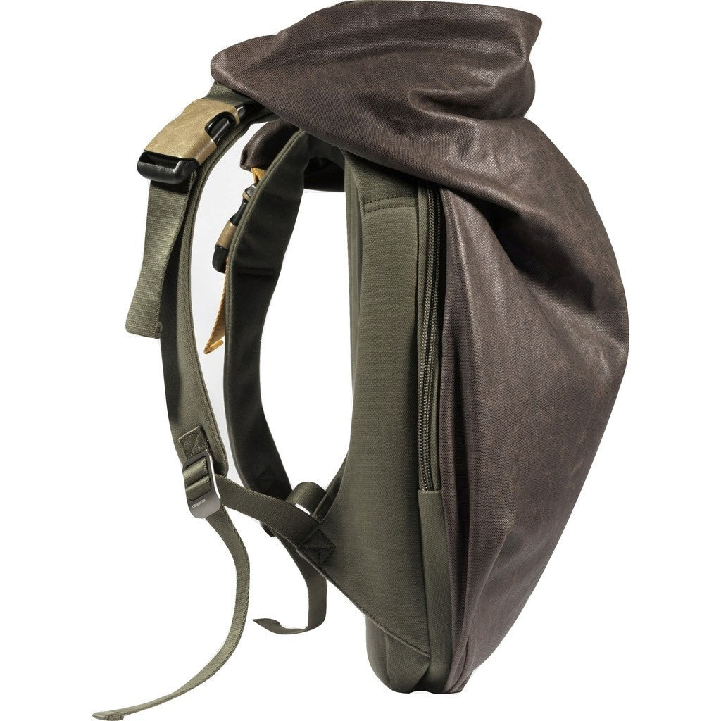 Cote et Ciel Nile Feldspath Coated Canvas Backpack | Puce/Olive