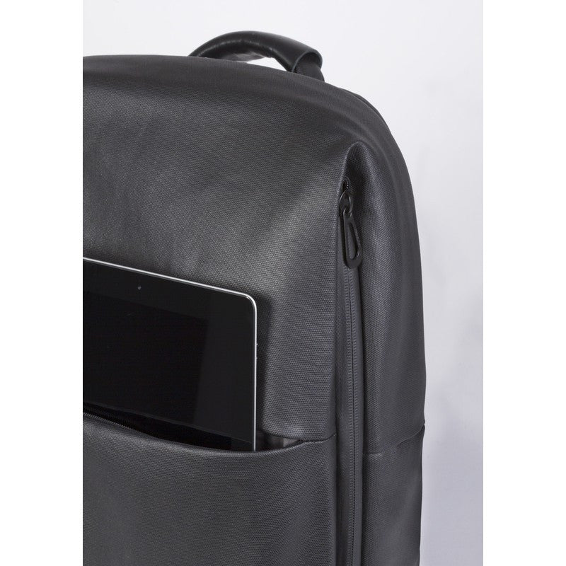 Cote et Ciel Rhine Coated Canvas Backpack | Black 28332