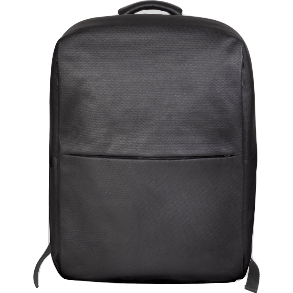 Cote et Ciel Rhine Coated Canvas/Leather Backpack | Black