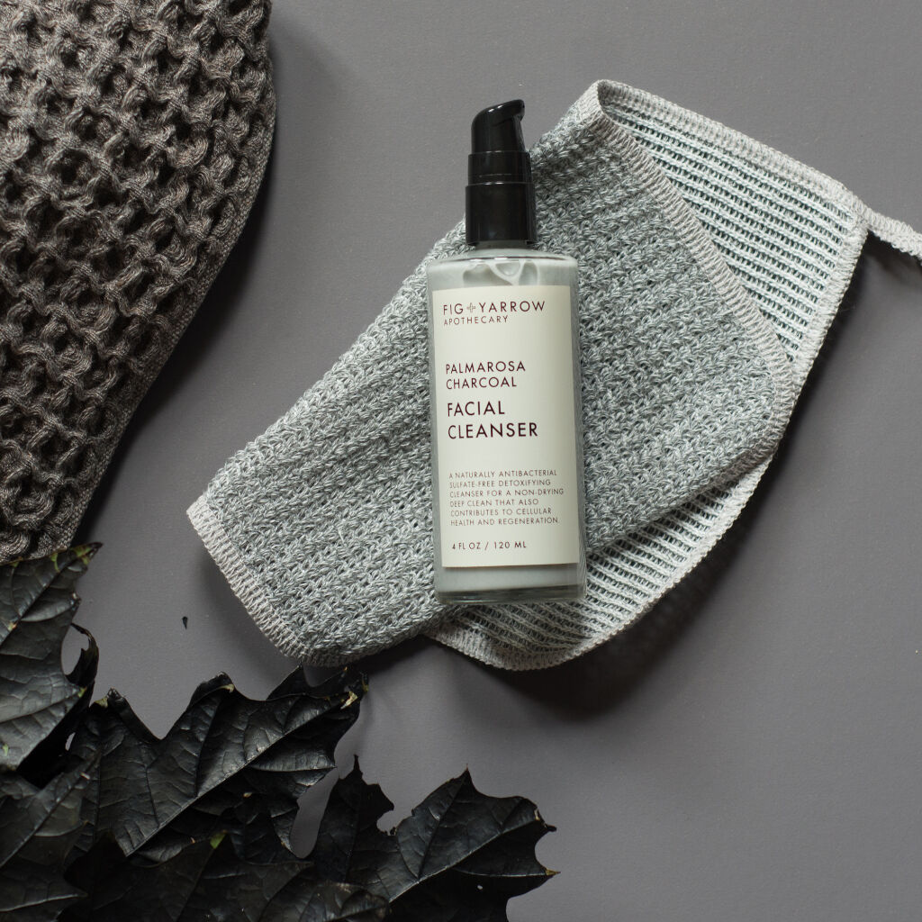 Fig+Yarrow Palmarosa Charcoal Facial Cleanser 4 fl oz FCFPC4