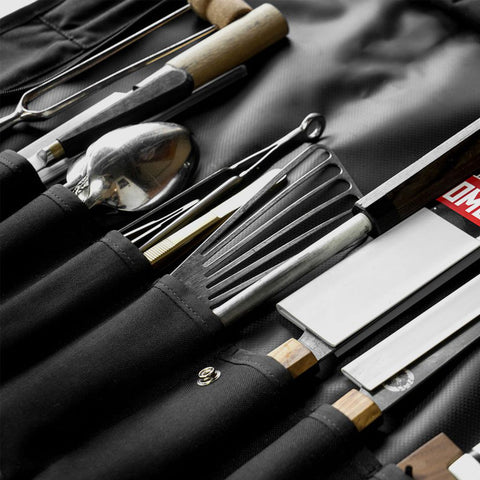 Chrome Chef's Knife Roll Knife Bag | All Black