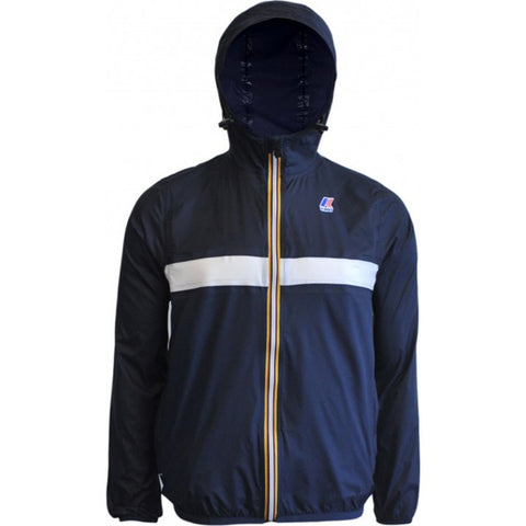 K-Way Claude Color Block 3.0 Jacket | Depth Blue/White/Depth Blue K004BD0CB