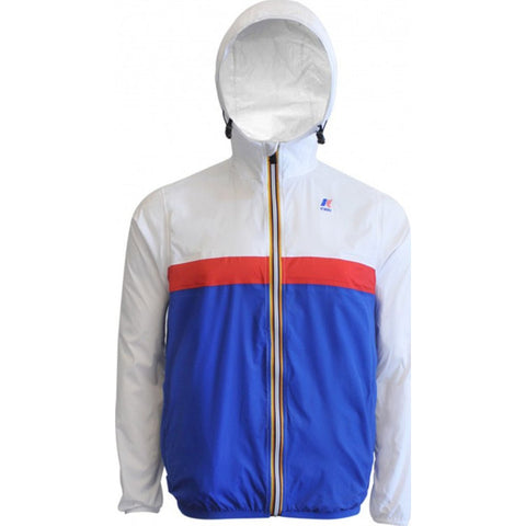 K-Way Claude Color Block 3.0 Jacket | White/Red/Royal Blue K004BD0CB