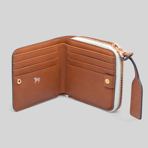 The Horse Mini Block Wallet | Tan STO123 -L1