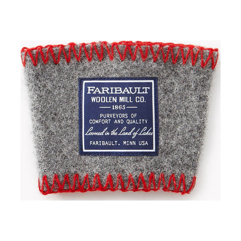 Faribault Wool Coffee Cup Sleeve | Gray - 02104