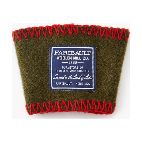 Faribault Wool Coffee Cup Sleeve | Green - 02111