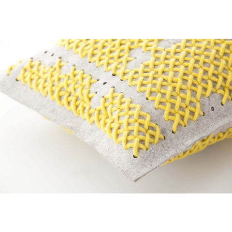 Gan Canevas Abstract Pillow | Dark Yellow/Light Gray 02CN21471CL96