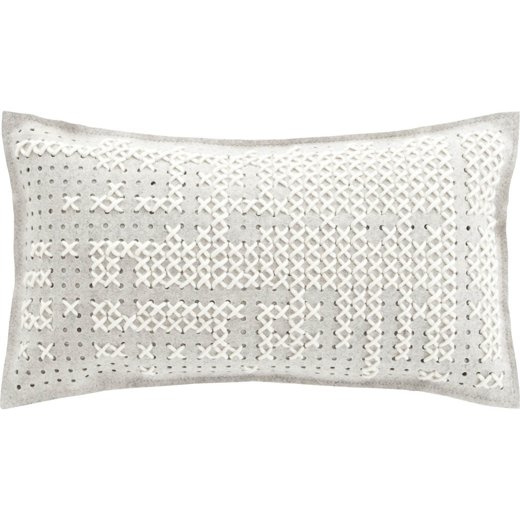 Gan Canevas Abstract Pillow | White/Light Gray 02CN21471CL95