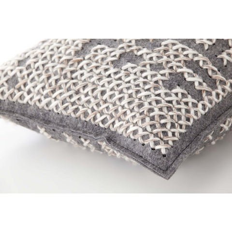 Gan Canevas Abstract Pillow | Carbon/Dark Gray 02CN21468CL94