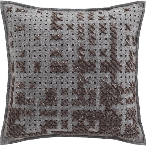 Gan Canevas Abstract Pillow | Charcoal/Dark Gray 02CN21467CL91