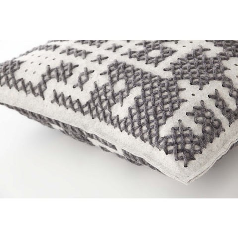 Gan Canevas Abstract Pillow | Gray/Light Gray 02CN21467CL93