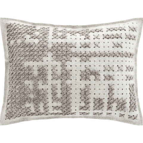 Gan Canevas Abstract Pillow | Silver/Light Gray 02CN21468CL90