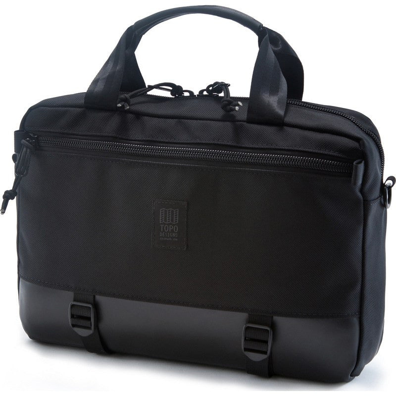 Topo Designs Commuter Briefcase | Ballistic/Black Leather