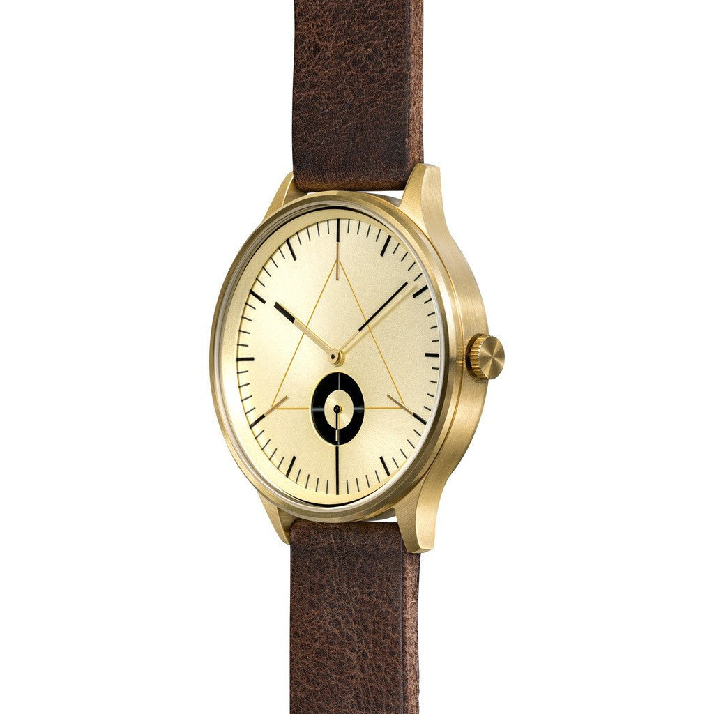 Cronometrics The Architect PVD Gold Watch | Dark Brown Italian Leather CM01WL17