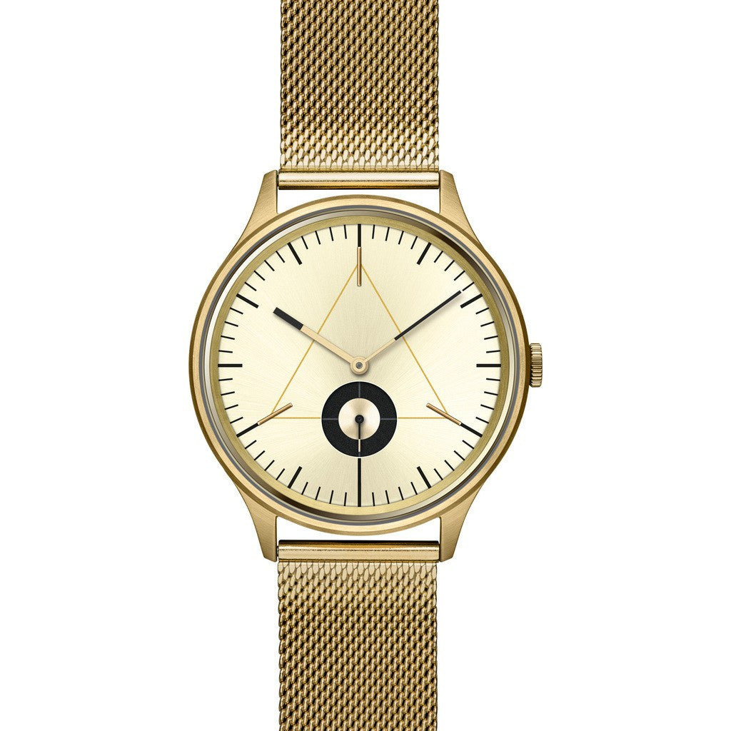Cronometrics The Architect PVD Gold Watch | Stainless Steel Milanese CM01WS17