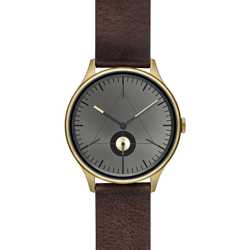 Cronometrics The Architect PVD Gold/Gunmetal Watch | Dark Brown Italian Leather CM01WL14