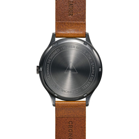 Cronometrics The Architect PVD Gunmetal Watch | Brown Italian Leather CM01WL16