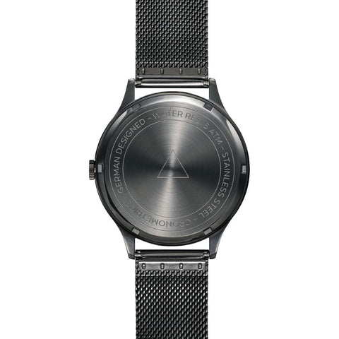 Cronometrics The Architect PVD Gunmetal Watch | Stainless Steel Milanese CM01WS16