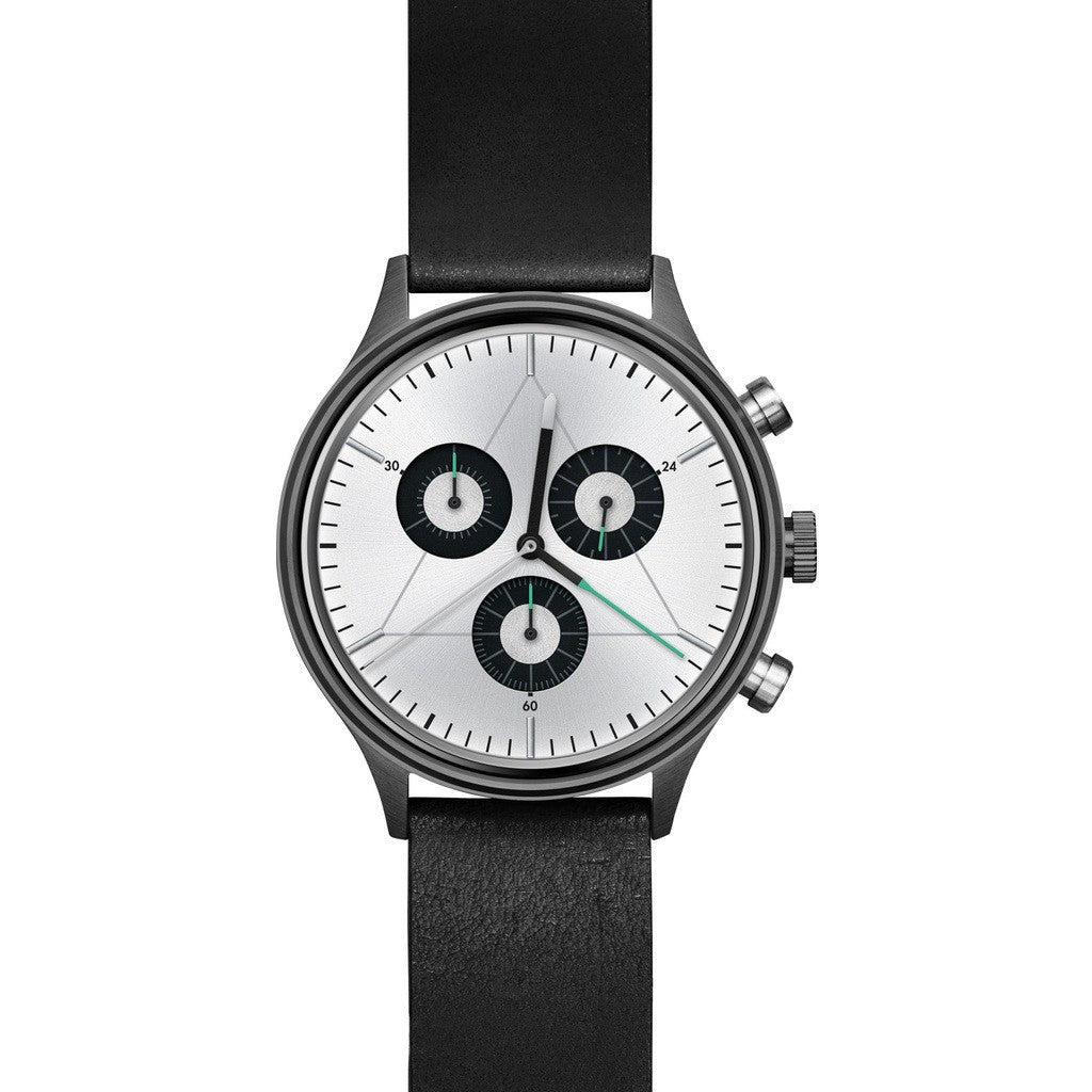 Cronometrics The Engineer PVD Gunmetal Watch | Black Italian Leather CM02WL08