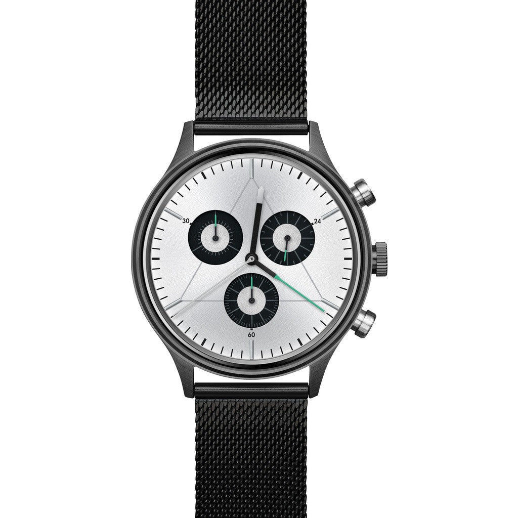 Cronometrics The Engineer PVD Gunmetal Watch | Stainless Steel Milanese CM02WS08