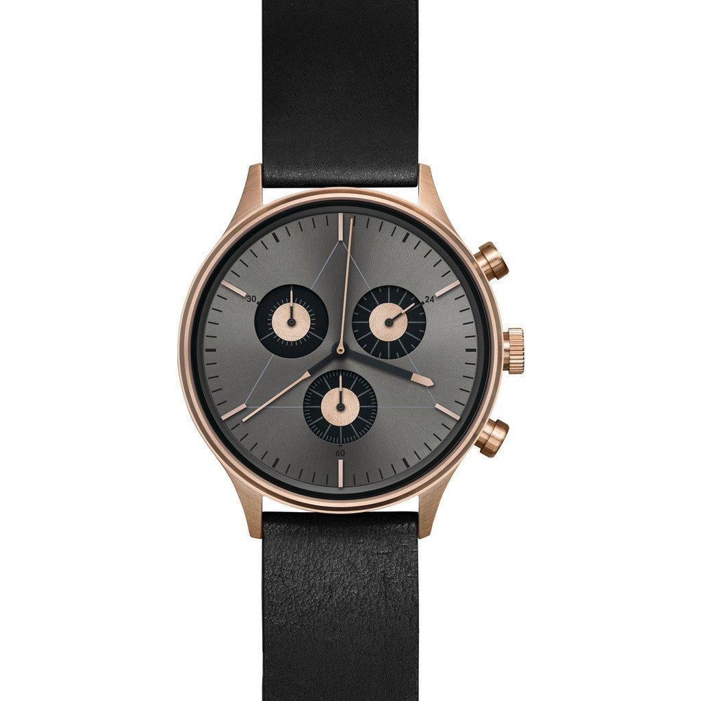 Cronometrics The Engineer PVD Rose Gold Watch | Black Italian Leather CM02WL06