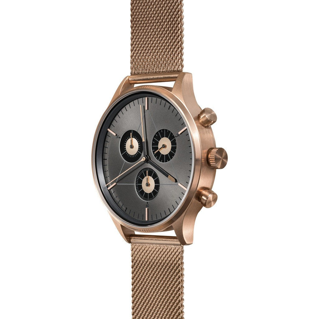 Cronometrics The Engineer PVD Rose Gold Watch | Stainless Steel Milanese CM02WS06