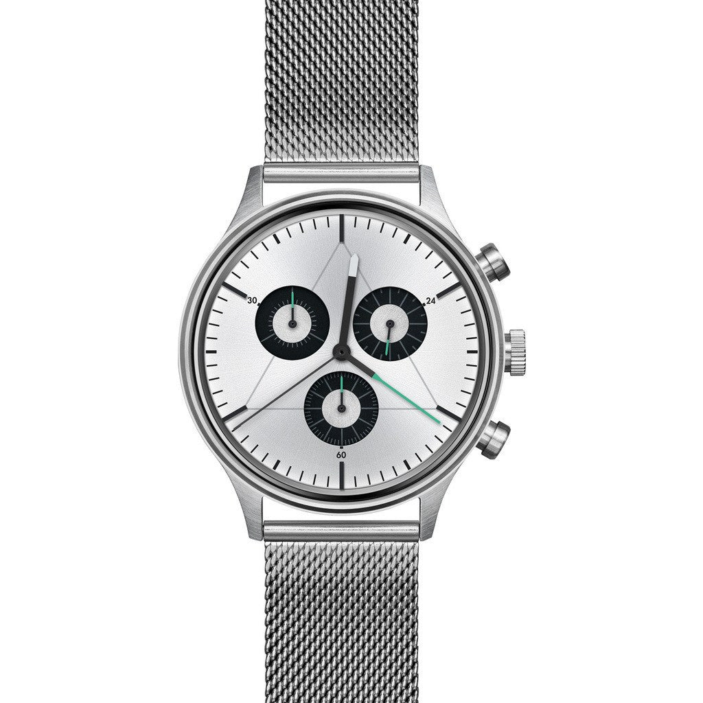 Cronometrics The Engineer Brushed Steel Watch | Stainless Steel Milanese CM02WS12