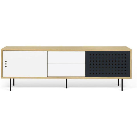TemaHome Dann Dots 201 Sideboard | Metallic White & Anthracite 9500.402647