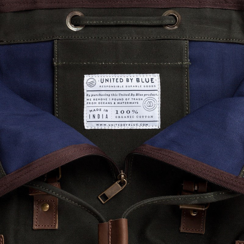 United By Blue Derby Tier Cinch Backpack | Moss