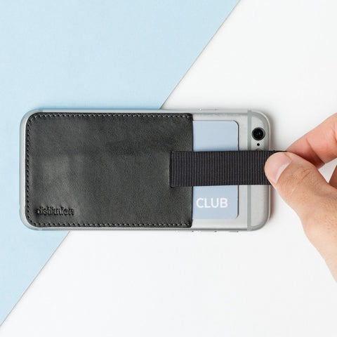 Distil Union Wally Junior Stick-on Wallet | Ink Black WS201