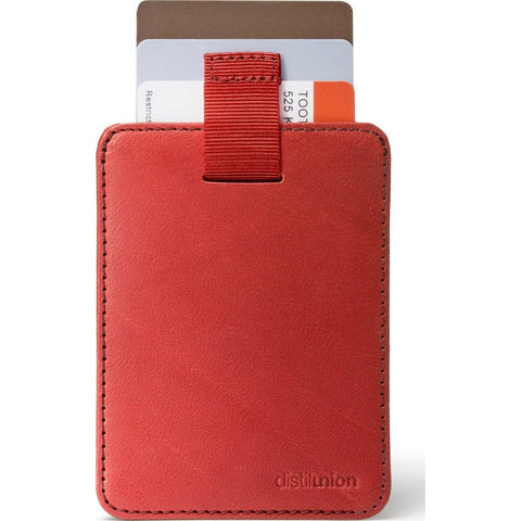Distil Union Wally Sleeve Wallet | Rust [Red] WS204