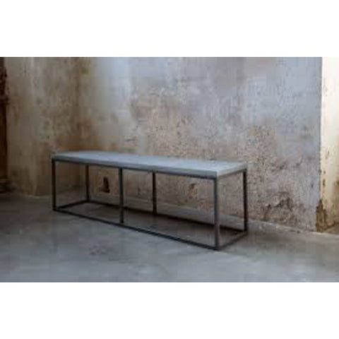 Lyon Beton Perspective Bench | Concrete/Light Grey S-09300-PE-010